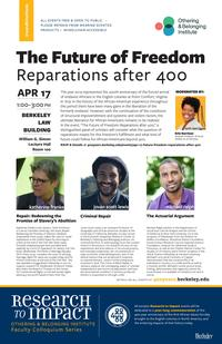 April 17 panel on reparations
